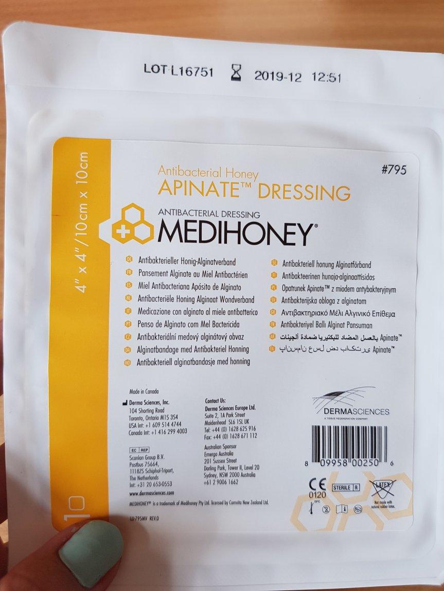 Leg ulcer update. Using medi-honey. (Imagesincluded)