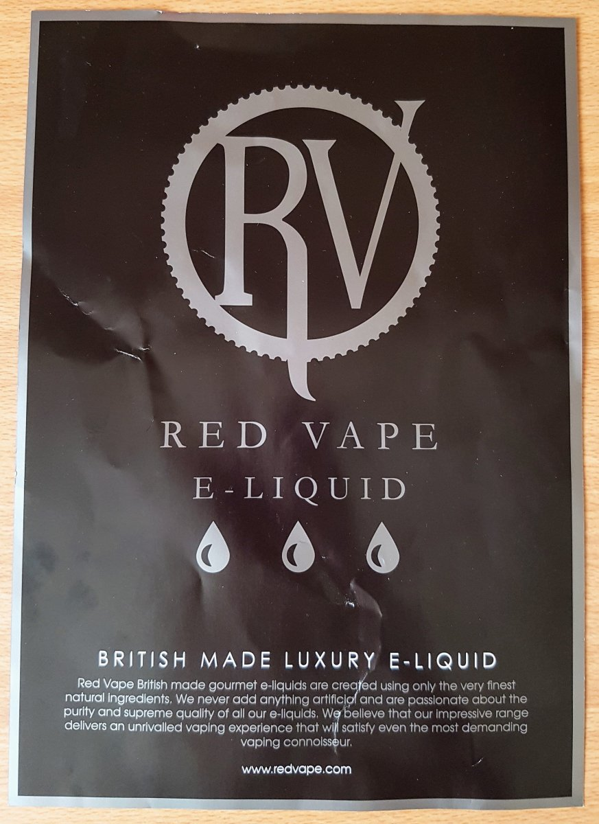 RED VAPE E-LIQUID REVIEW