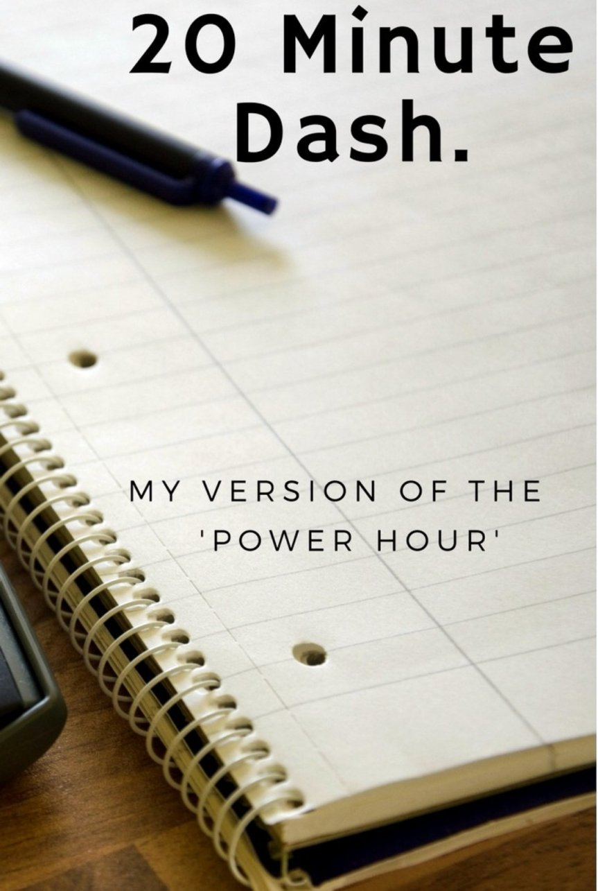 20 Minute Dash – My own version of the famous 'Power hour'