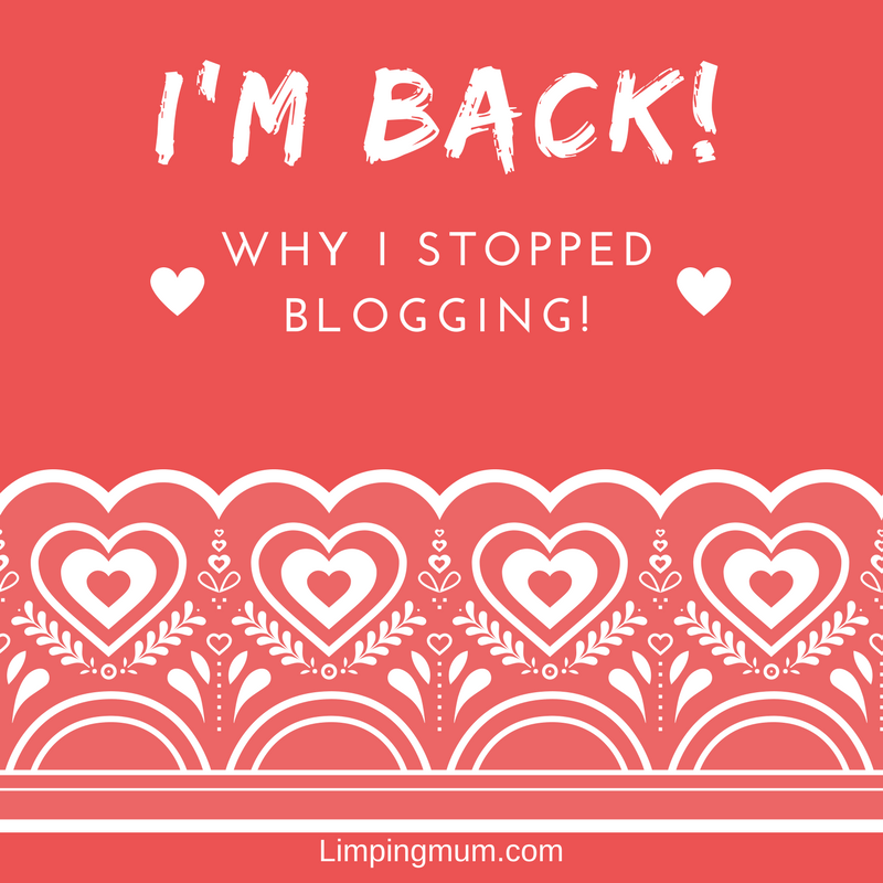 I'm back! Why I stopped blogging.